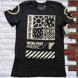 Iron Fist Athletic Blood Sweat Graphic Tee NWT